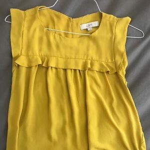Loft mustard blouse